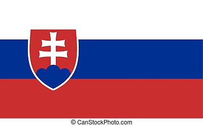 Flag of Slovakia - Slovakiavector flag of the independent...
