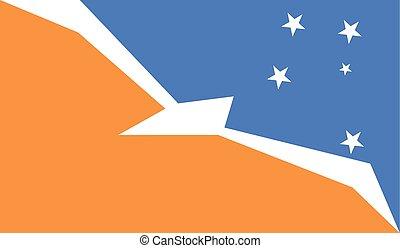 Flag of Tierra del Fuego Province Argentina - Tierra del...
