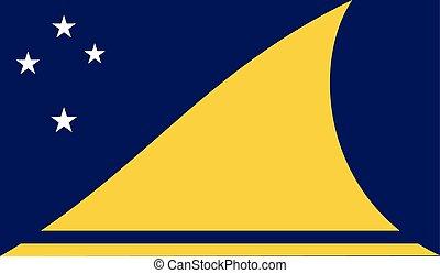 Flag of Tokelau - Tokelau flag vector illustration. created...
