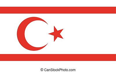 Flag of Turkish Republic of Northern Cyprus - Turkish...