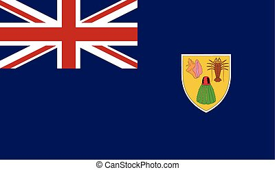 Flag of Turks and Caicos Islands - Turks and Caicos Islands...