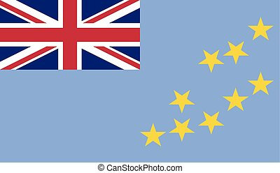 Flag of Tuvalu - Tuvalu flag vector illustration created EPS...