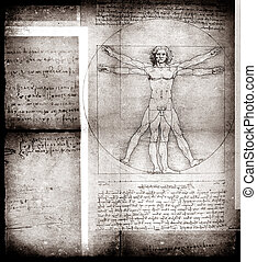 Man - Photo of the Vitruvian Man by Leonardo Da Vinci from...