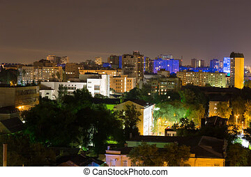 Rostov-on-Don - Night cityscape of the Rostov-on-Don, Russia