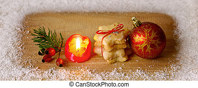 Avent candle and Christmas cookies - Avent candle and...