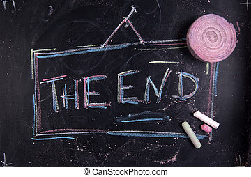 The end - Graphical representation of the word, The End,...