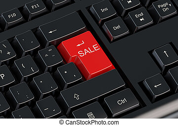Sale keyboard red button