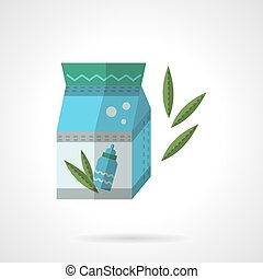 Infant formula pack flat vector icon - Colored pack of...