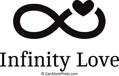 Vector trendy infinity sign with heart logotype. Modern...