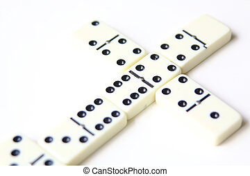 dominoes isolated on white background - dominoes game set...