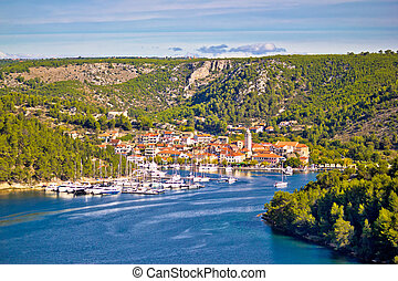 Town of Skradin on Krka river, Dalmatia, Croatia