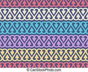 Seamless pattern with cute ornament for wallpaper