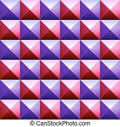 Colorful pyramids seamless vetor pattern - Abstract...