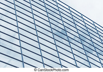 Glass windows - The wall of glass windows of a modern...