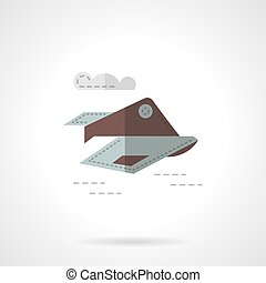 Spy plane flat vector icon - Military unmanned aircraft Spy...