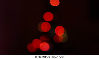 Christmas tree colorful bokeh at home
