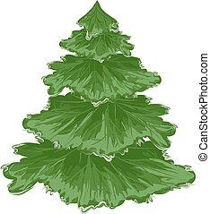 Christmas tree. Pine tree