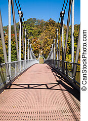Popolopen Creek Suspension Footbridge at Fort Montgomery, NY...