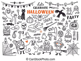 Halloween Vector Set of  Design Elements