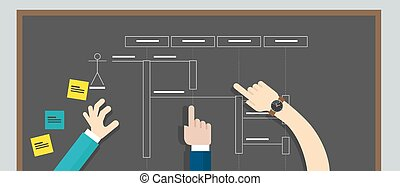 sequence diagram uml unified modeling language vector