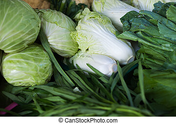 Vegetables group in market place - An Vegetables group in...
