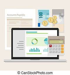 account payable accounting software money calculator...