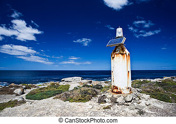 Solar powered lighthouse - A remote solar powered lighthouse...