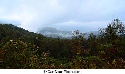 autumn morning on blue ridge parkway