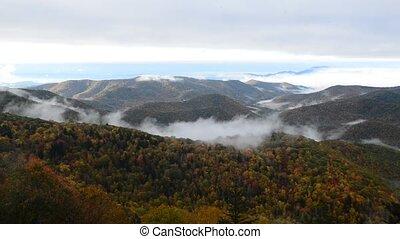 autumn morning on blue ridge park wa - autumn morning on...