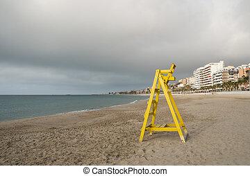 La Vila beach - Lifeguard seat on La Vila beach, Costa...