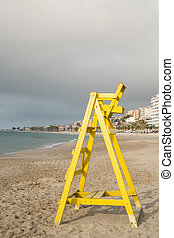 La Vila beach - Lifeguard seat on La Vila beach, Costa...