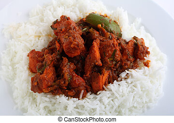 Chicken tikka masala closeup - A close-up view of chicken...