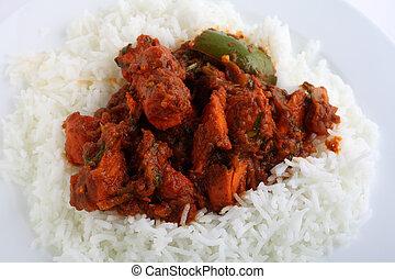 Chicken tikka masala closeup - A close-up view of chicken...