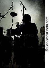 Percusión, artista