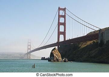 Golden Gate Bridge from Fort Baker, Marin, California