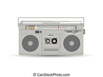 Magnetic cassette player. Vector