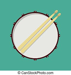 Drum - Snare drum and drumsticks