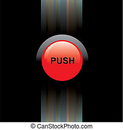 black background with red button
