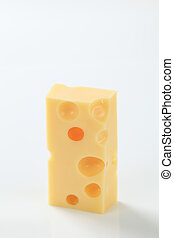 piece of Emmentaler cheese - small piece of emmental cheese
