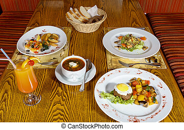 Mexican cuisine - delicious Mexican dishes on a white plate