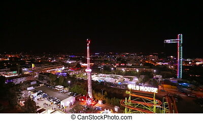 Amusement park in the evening - Cyprus Ayia Napa amusement...