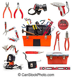 building tools collage