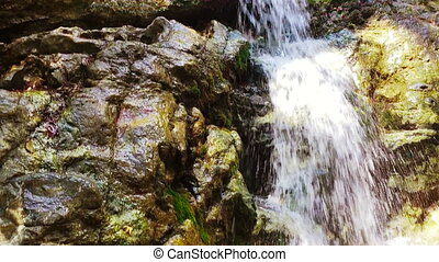 waterfalls in Cyprus. - Waterfalls in Troodos Cyprus. Pan...