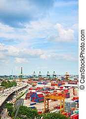 SIngapore industrial port storage