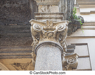 Ionic capital - Detail of ancient capital of the Ionic order