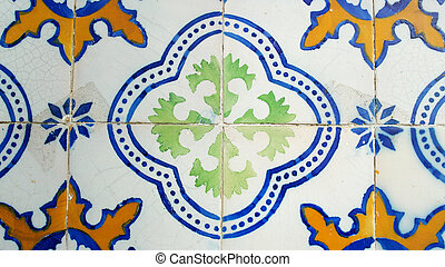 Detail of some portuguese tiles