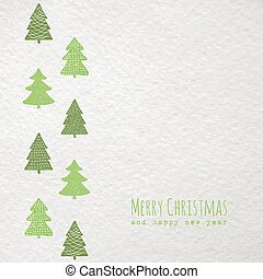 Christmas card with christmas trees