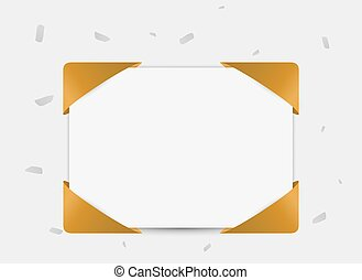 paper with ribbon in corners
