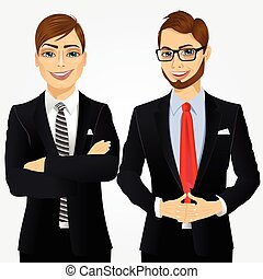 portrait of two young businessmen