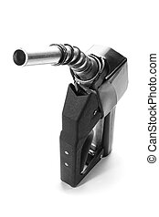 Black fuel nozzle - Stock image of black fuel nozzle over...